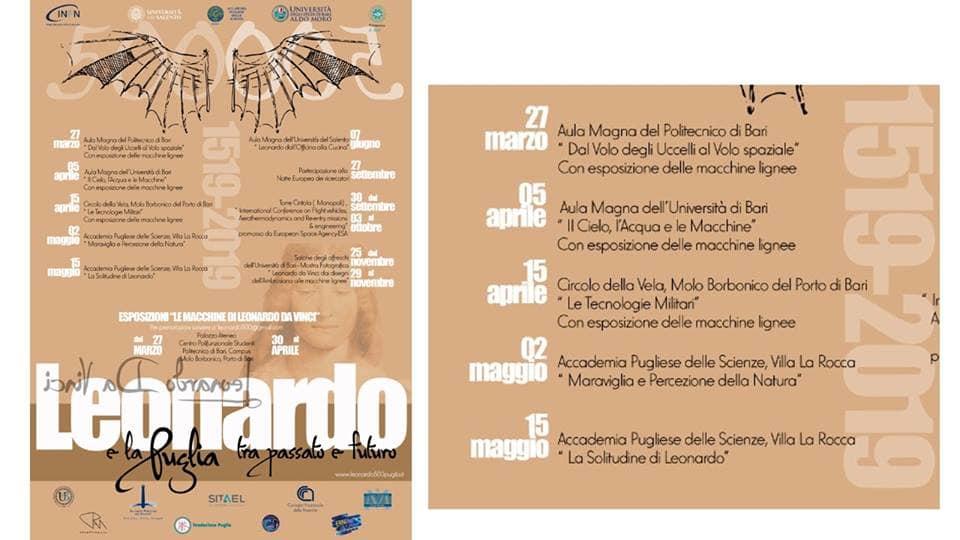 Poliba Calendario.Le Macchine Di Leonardo Da Vinci In Mostra Al Politecnico Di