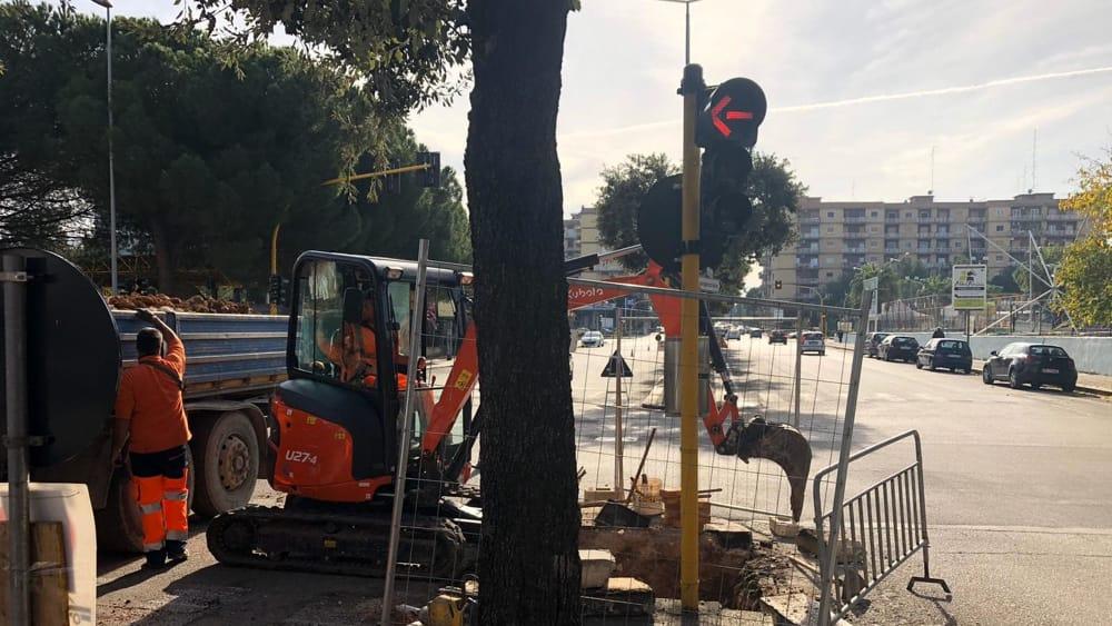 02-12-19 al via cantiere per impianto illuminazione pubblica in alcune strade di Poggiofranco 1(1)-2