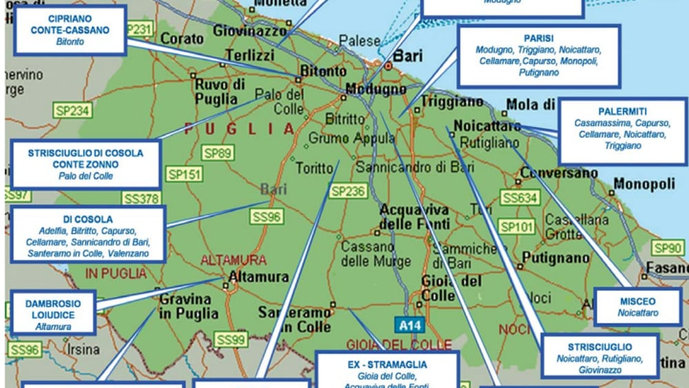 Monopoli Puglia Cartina.Bari La Mappa Dei Clan Che Si Spartiscono Gli Affari In Citta