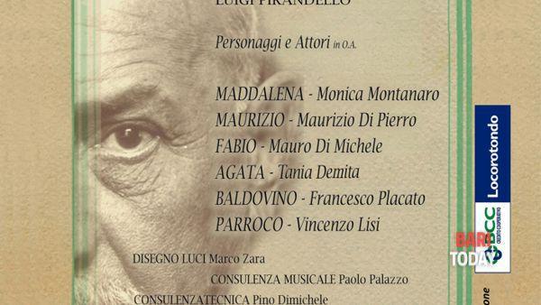 Il piacere dell'onestà, di Luigi Pirandello, nell'adattamento e con la regia di Carlo Dilonardo, all'auditorium comunale di Locorotondo