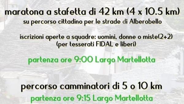 """Ad Alberobello la Maratona dei Trulli in memoria di """"Giovanni Latesoriere"""""""