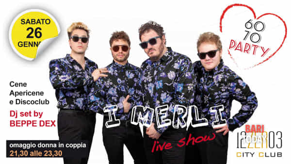 I Merli live show al 12.03 City Club