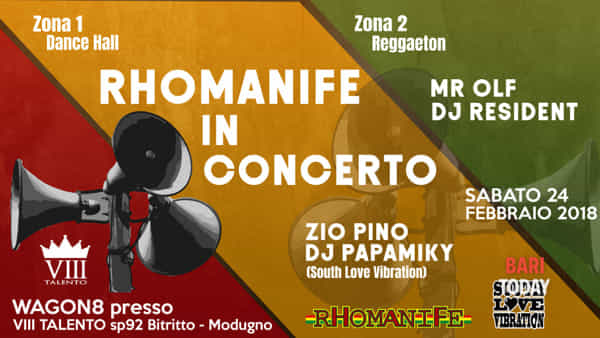 Rhomanife band in concerto e south love in dance hall all' VIII Talento