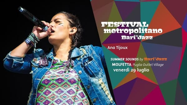 """Summer Sounds"", Ana Tijoux al Puglia Outlet Village di Molfetta"