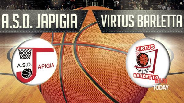 Pallacanestro maschile -Campionato di promozione girone a - 10° giornata - A.S.D. Japigia Bari vs Virtus Barletta