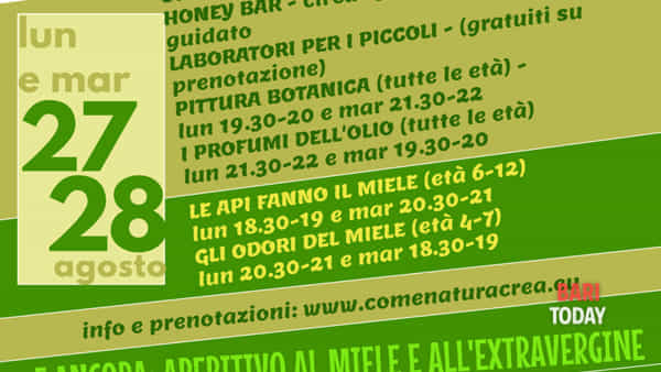 Come natura crea - esplorazioni tra olio e miele a Giovinazzo
