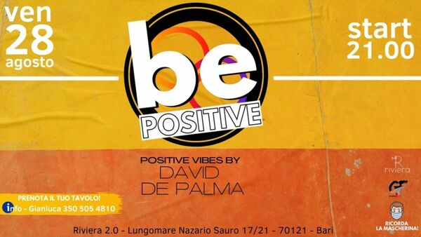'Be positive 2.0' al Riviera di Bari