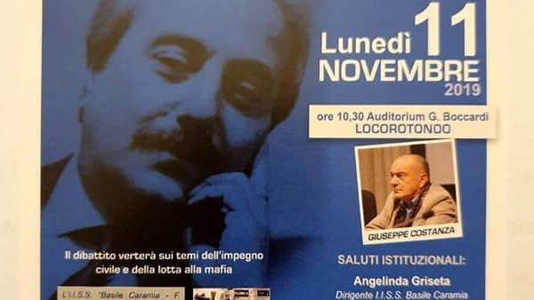 Giuseppe Costanza, uomo di fiducia di Giovanni Falcone, incontra gli studenti a Locorotondo