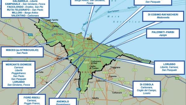 Cartina Puglia Noicattaro.Bari La Mappa Dei Clan Che Si Spartiscono Gli Affari In Citta