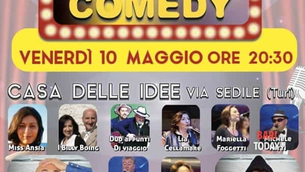 "Stand up comedy ""laboratorio pazzo comico"" a Turi"