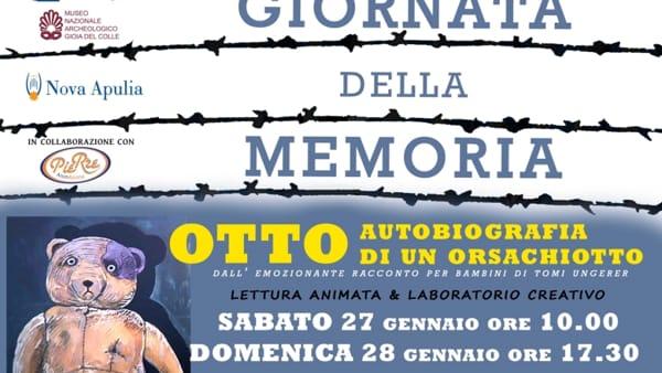 """A Gioia del Colle Giornata della Memoria:lettura animata e laboratorio creativo """"Otto, autobiografia di un orsacchiotto"""""""