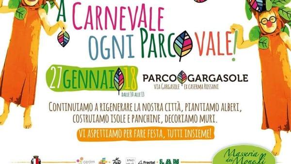 Festa di Carnevale al Parco Gargasole per giocare, incontrarsi e divertirsi
