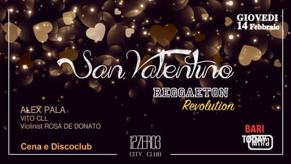 Cena romantica di San Valentino e discoclub
