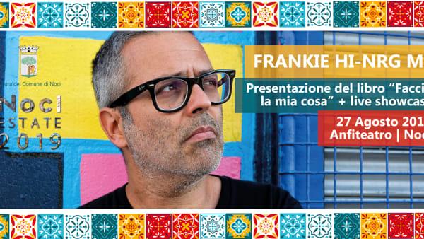 """A Noci il rapper, autore e compositore Frankie hi-nrg mc presenta il suo libro """"Faccio la mia cosa"""""""