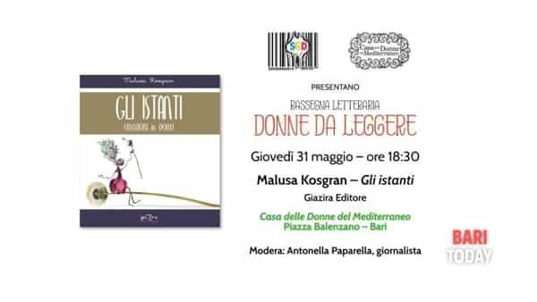 Alla Casa delle Donne del Mediterraneo la presentazione del libro 'Gli istanti' di Malusa Kosgran