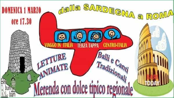 Letture animate: 'Viaggio in Italia. Dalla sardegna a Roma'