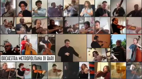 L'orchestra della Città metropolitana suona (a distanza) Mozart per omaggiare i medici baresi