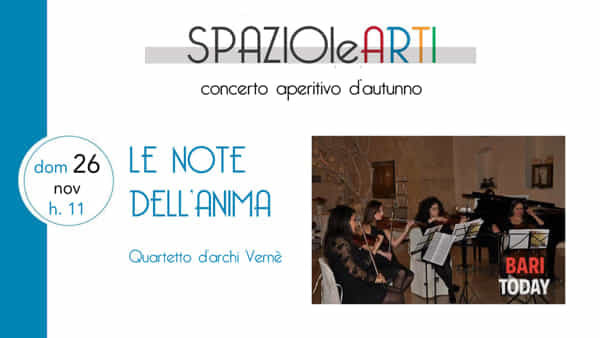 Le note dell'anima, quartetto d'Archi Vernè