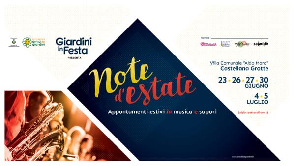 A Castellana torna 'Giardini in Festa' in una nuova versione 'Note d'Estate', dove la musica diventa protagonista