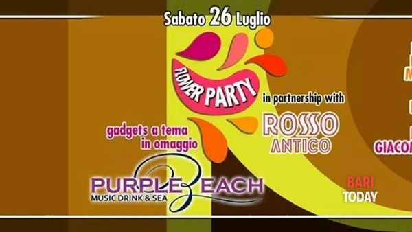 Flower party al Purple Beach