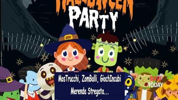 Festa di Halloween con zombi e mostriciattoli