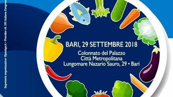 """A Bari il convegno """"Stili di vita e alimentazione per una strategia anticancro"""""""