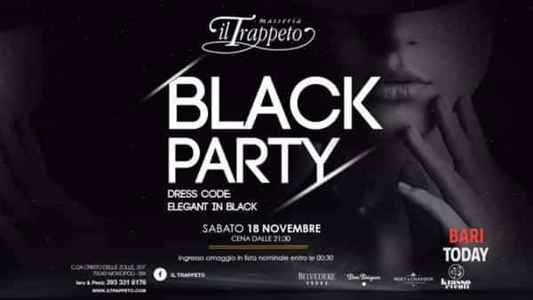 Total black party al Trappeto