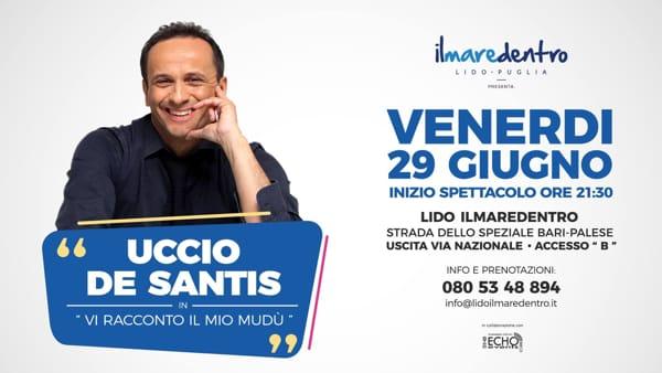 Lo show di Uccio De Santis al lido Ilmaredentro