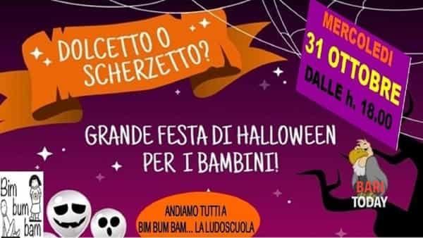 Gran festa di Halloween alla ludoscuola Bimbumbam