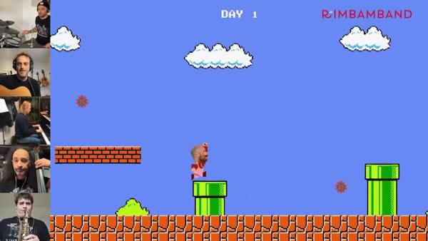 La lotta al Coronavirus diventa un videogioco: la Rimbamband trasforma Mario Bros
