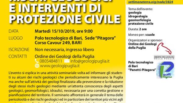 7^ edizione della Settimana del Pianeta Terra, a Bari e Acquaviva manifestazioni dedicate alla divulgazione scientifica