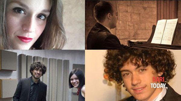 """Torna il ciclo """"Dedicato a..."""". All'Auditorium La Vallisa, quattro giovani promesse in concerto"""
