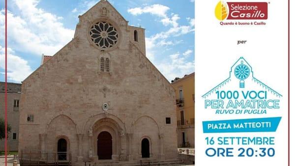 """""""1000 voci per Amatrice"""", concerto in piazza a Ruvo per la raccolta fondi da devolvere alle popolazioni colpite dal sisma"""