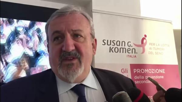 """VIDEO   In Fiera l'evento sulla prevenzione dei tumori al seno, Emiliano: """"Screening in crescita"""""""