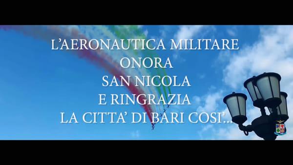 VIDEO | Le Frecce Tricolori ringraziano e salutano Bari: le immagini del grande show di San Nicola
