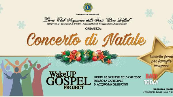 Spettacolo di gospel natalizio presso la cattedrale di Acquaviva