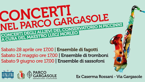 Ensemble di fagotti, al Parco Gargasole il concerto degli allievi del Conservatorio Piccinni