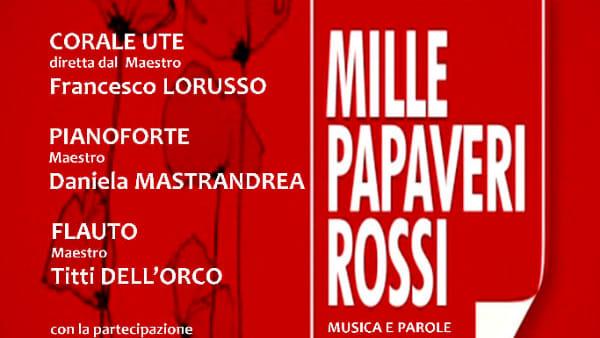"""Giornata della memoria con """"Mille papaveri rossi"""", a Gioia del Colle un viaggio tra musica e parole per non dimenticare"""