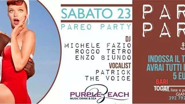 Pareo party al Purple Beach di Monopoli
