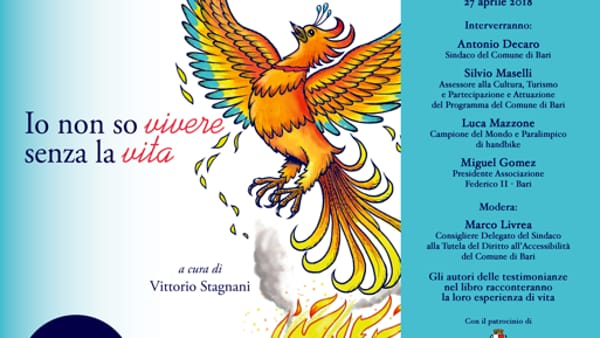 """A Palazzo di Città la presentazione del libro """"Io non so vivere senza la vita"""" a cura di Vittorio Stagnani"""