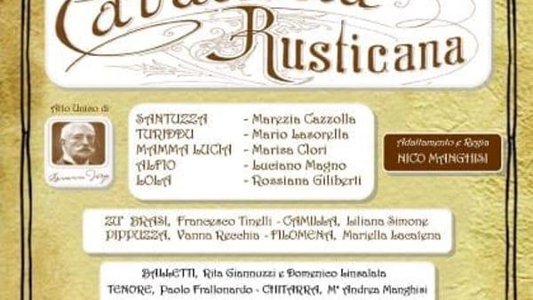''Cavalleria rusticana'', atto unico di Giovanni Verga in scena a Castellana Grotte
