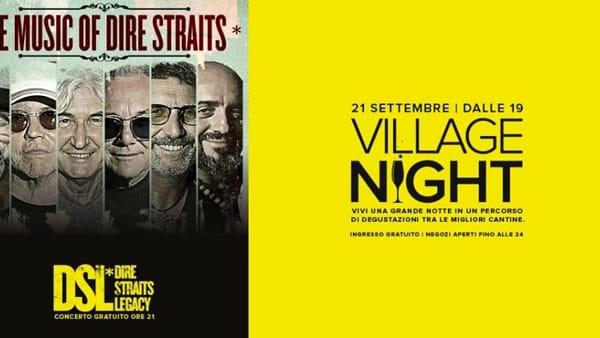 Dire Straits Legacy alla Village Night dell'Outlet Puglia di Molfetta con il buon vino e le degustazioni tipiche pugliesi