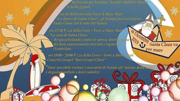 'Santa Claus va per mare', spettacoli, mercatini, laboratori e rappresentazioni in mare