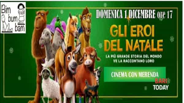 Gli eroi del Natale per il cinema con merenda a Terlizzi