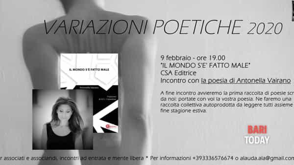 Variazioni poetiche con Antonella Vairano