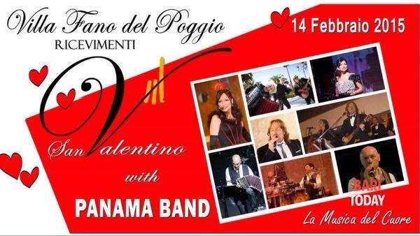 Cena di San Valentino con Panama band a Cassano Murge