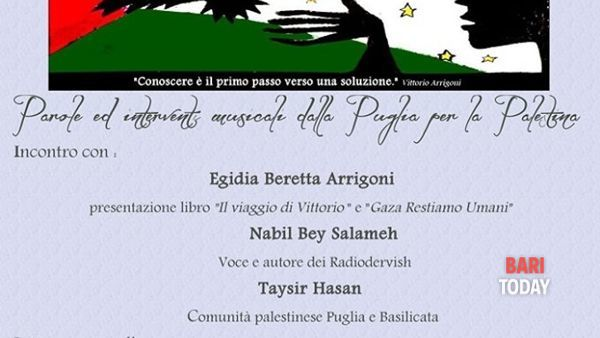 Stay human - Egidia Arrigoni e Nabil (Radiodervish) a Turi per la Palestina
