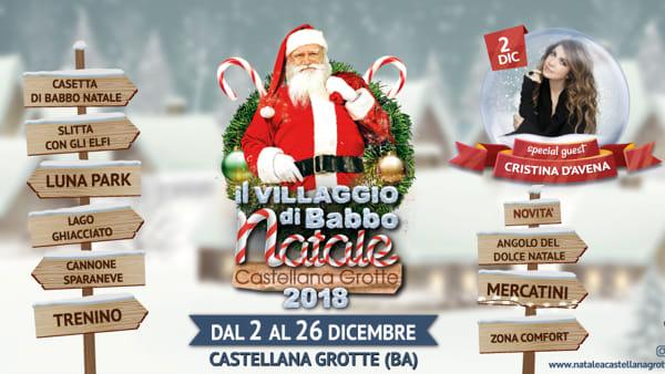 Villaggio di Babbo Natale a Castellana Grotte: musica, spettacoli, gastronomia, mercatini e animazione