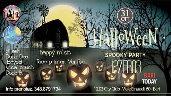 Halloween spooky party al 12.03 City Club
