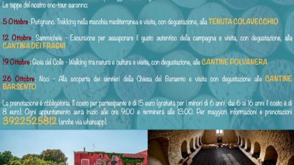 Alla scoperta della cultura del territorio e della storia del paesaggio della Murgia con 'Enopasseggiate 2019'